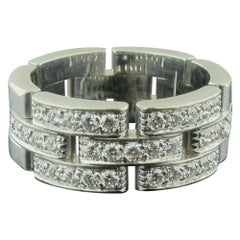 Cartier Panthiere 18 Karat White Gold Diamond Ring