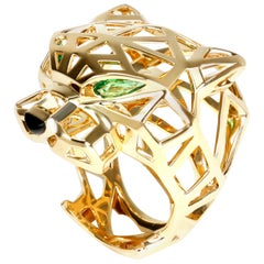 Cartier Panth̬re De Cartier Ring with Onyx and Tourmaline in 18 Karat Gold