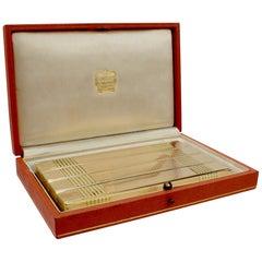 Cartier Paris 18 Karat Gold Mid-Century Modern Cigar or Cigarette Case, 1940s