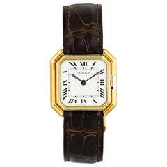 Cartier Paris 18 Karat Yellow Gold Vintage Ladies Watch