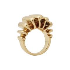 Cartier, Paris, 18K Gold Flame Ring, circa 1970