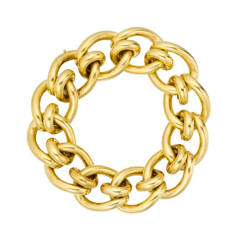 Cartier Paris 18 Karat Gold Link Bracelet, circa 1935 In Excellent Condition For Sale In New York, NY