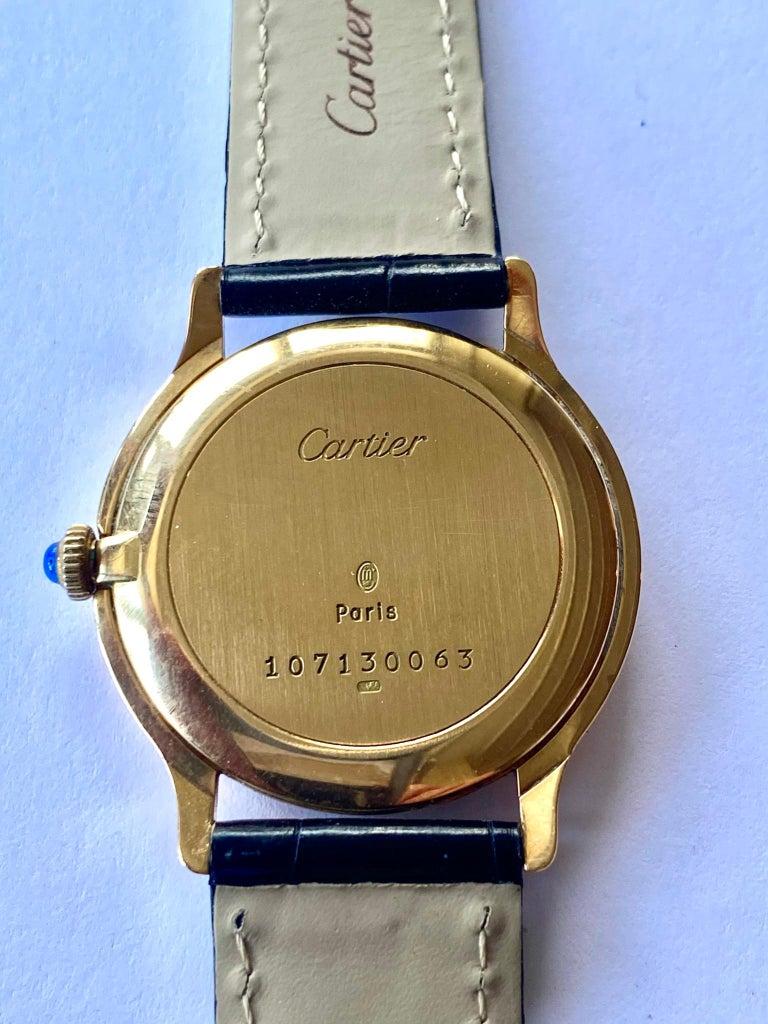 Cartier Paris, 18 Karat Gold, Model: Ronde, Handwinding Movement, circa 1975 For Sale 2