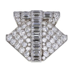 Cartier Paris Art Deco Platinum Diamond Brooch