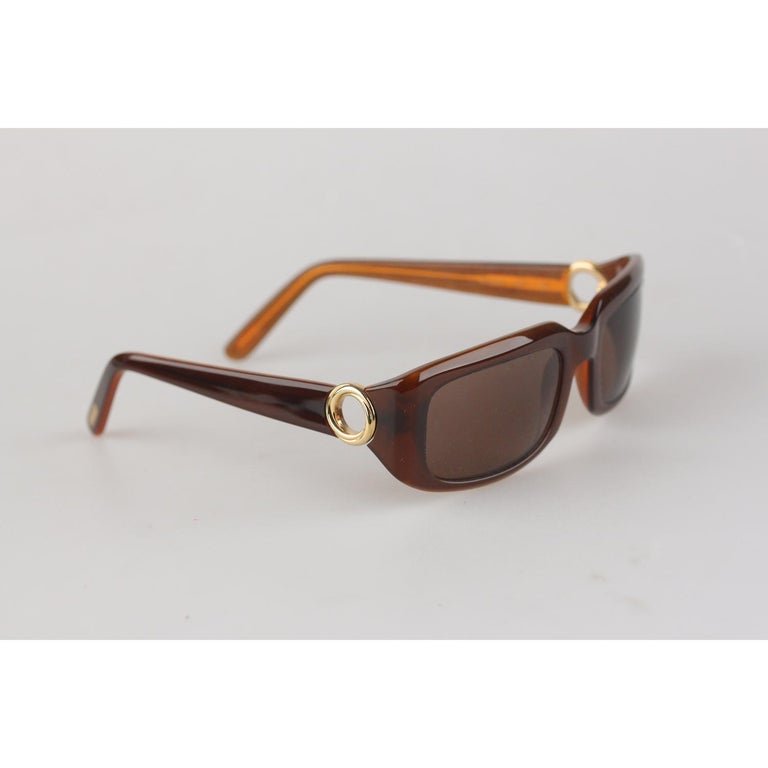 Cartier Paris Brown Women Small Sunglasses T8200319 New Old Stock In New Condition For Sale In Rome, Rome