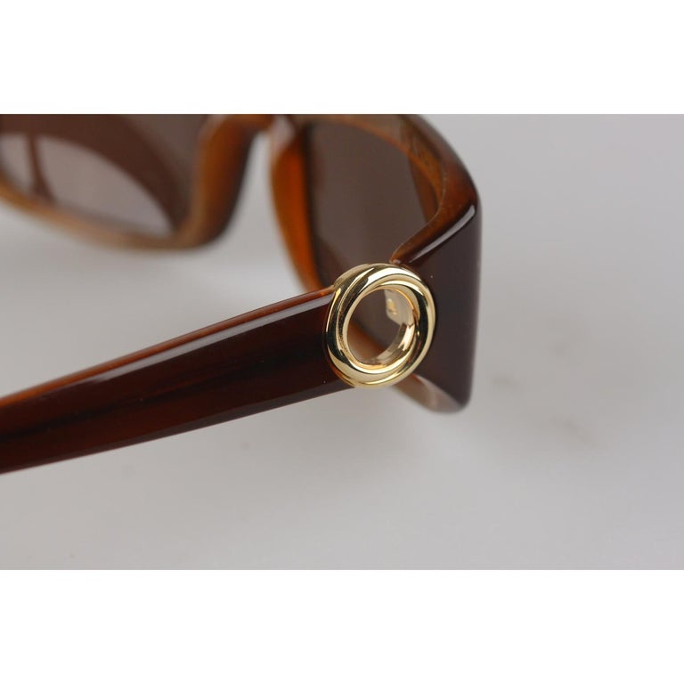 Cartier Paris Brown Women Small Sunglasses T8200319 New Old Stock For Sale 2