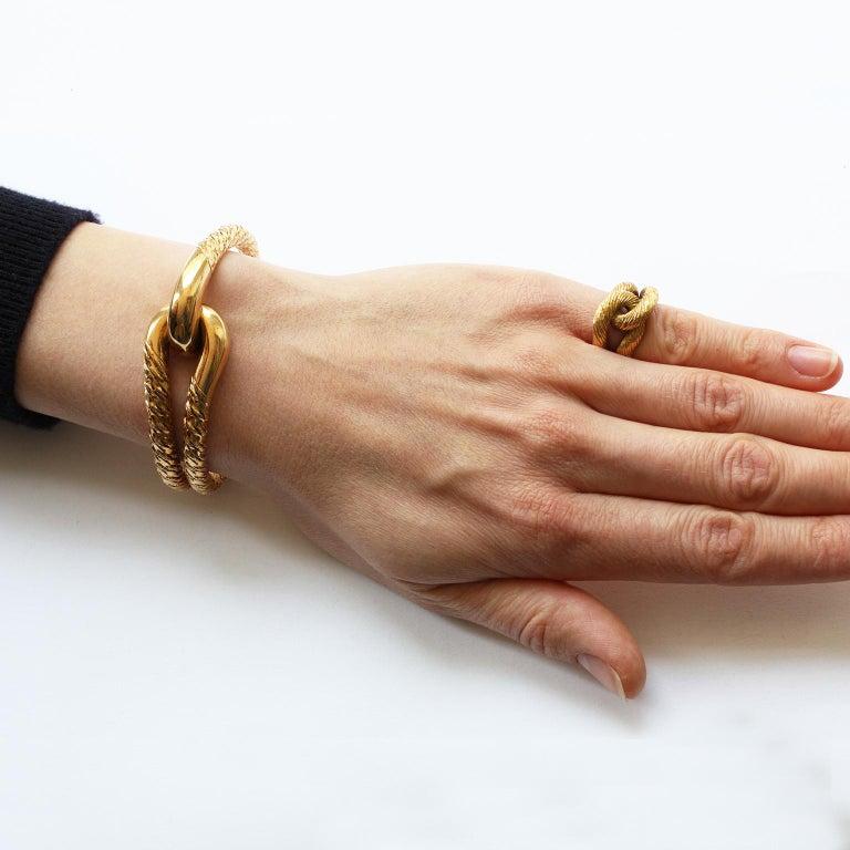 Cartier Paris by Georges Lenfant Gold Knot Bracelet and Ring For Sale 9