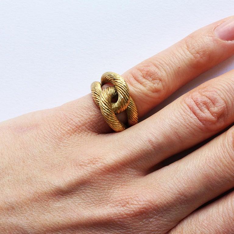 Cartier Paris by Georges Lenfant Gold Knot Bracelet and Ring For Sale 11