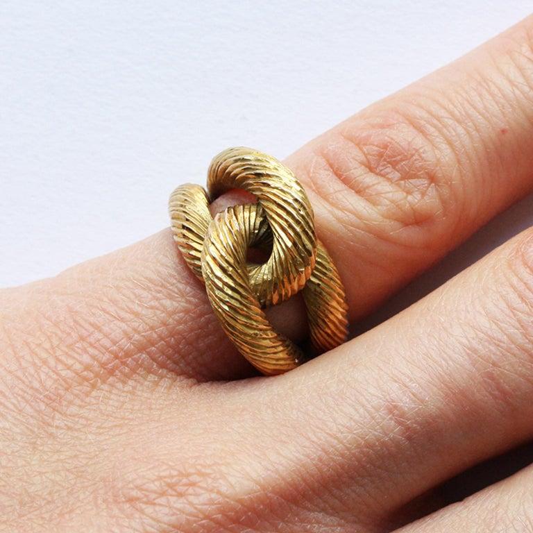 Cartier Paris by Georges Lenfant Gold Knot Bracelet and Ring For Sale 12
