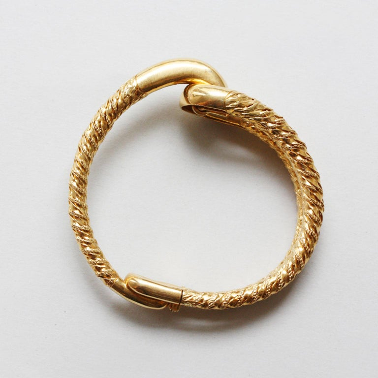 Cartier Paris by Georges Lenfant Gold Knot Bracelet and Ring In Excellent Condition For Sale In Amsterdam, NL