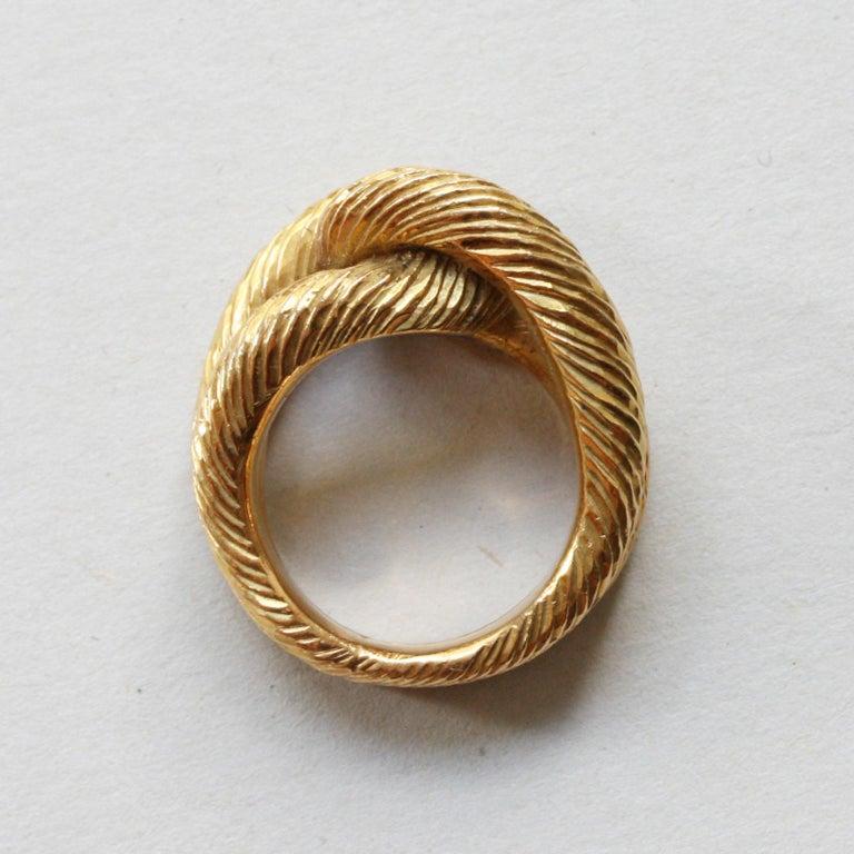 Cartier Paris by Georges Lenfant Gold Knot Bracelet and Ring For Sale 1
