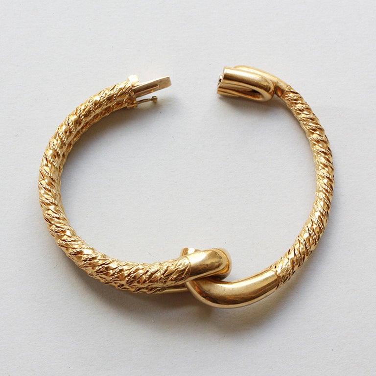 Cartier Paris by Georges Lenfant Gold Knot Bracelet and Ring For Sale 2