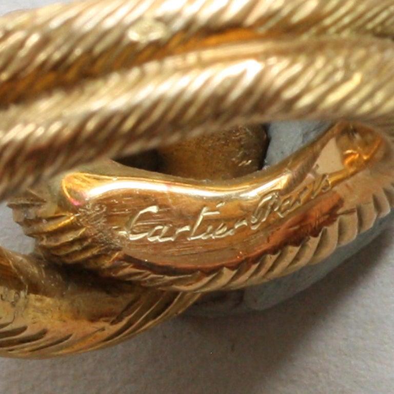 Cartier Paris by Georges Lenfant Gold Knot Bracelet and Ring For Sale 4