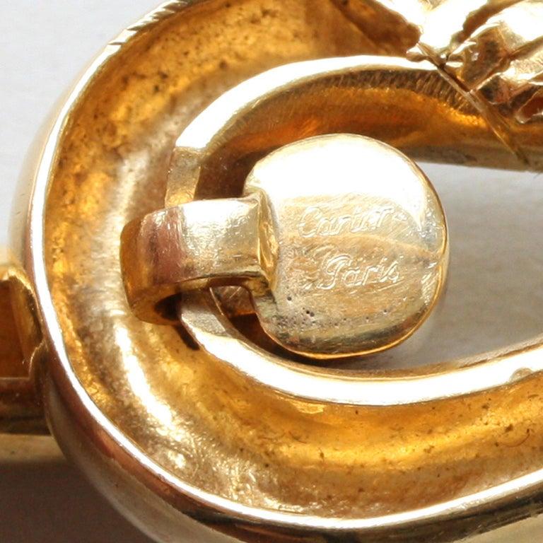 Cartier Paris by Georges Lenfant Gold Knot Bracelet and Ring For Sale 5