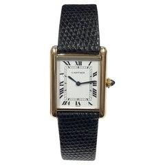 Cartier Paris Classic Yellow Gold Mechanical Tank Wrist Watch