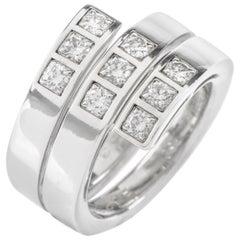 Cartier Paris Diamond 18 Karat White Gold Band Ring