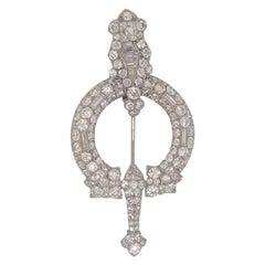 Cartier Paris Diamond Broshe circa 1890 Pin 8 Carat of Diamonds