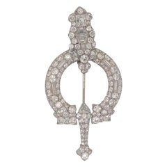 Cartier Paris Diamond Broshe circa 1890 Pin 8 Carat of Diamonds in Platinum
