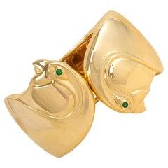 Cartier, Paris Estate Gold Cuff Bracelet with Bird Head Terminals