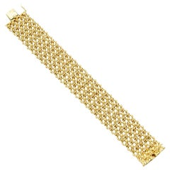 Cartier Paris Georges Lenfant Chain Link Yellow Gold Bracelet
