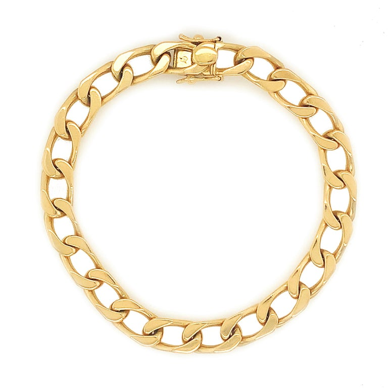 Cartier Paris Gold Curb Link Bracelet In Excellent Condition For Sale In New York, NY