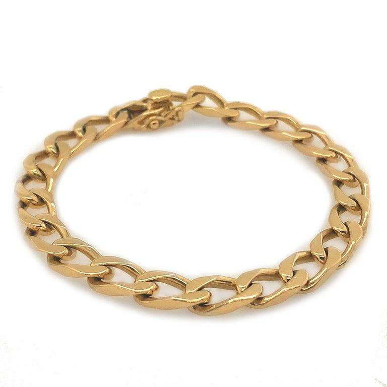 Cartier Paris Gold Curb Link Bracelet For Sale 2