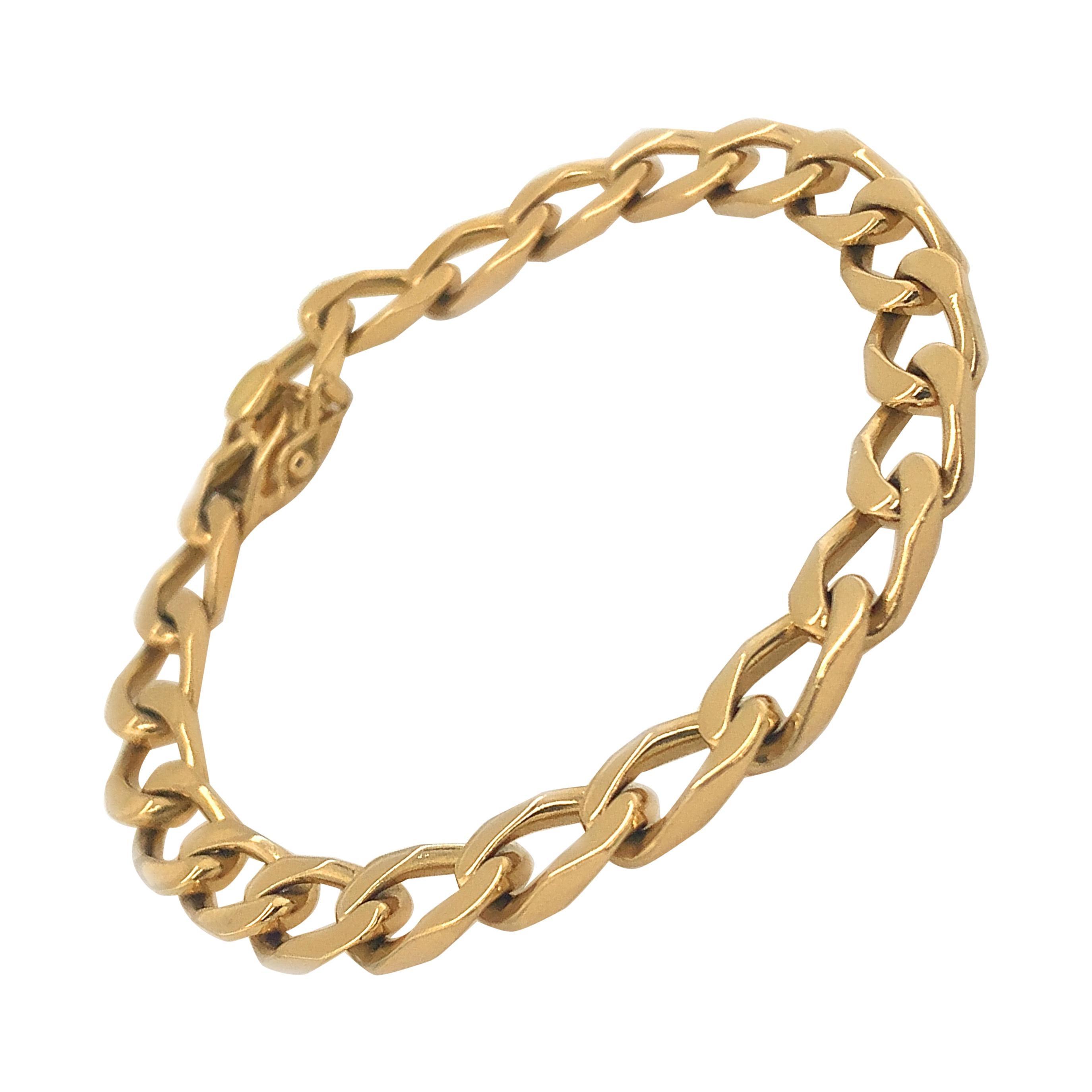 Cartier Paris Gold Curb Link Bracelet