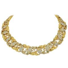 Cartier Paris Good Luck Koi Fish Diamond Gold Necklace