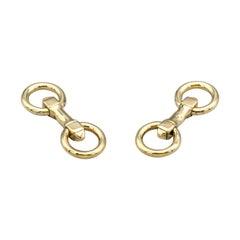 Cartier Paris Midcentury 18 Karat Gold Round Folding Cufflinks