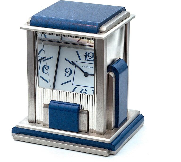 Contemporary Cartier Paris 'Mystere' Desk Clock For Sale