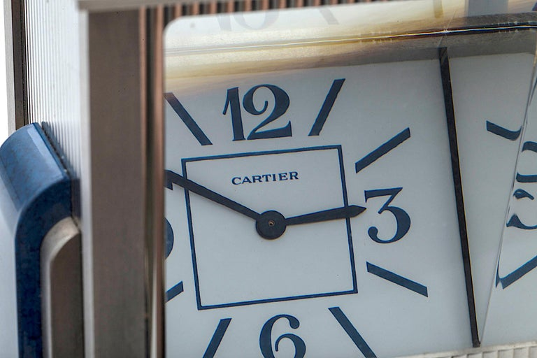 Cartier Paris 'Mystere' Desk Clock In New Condition For Sale In Greenwich, CT