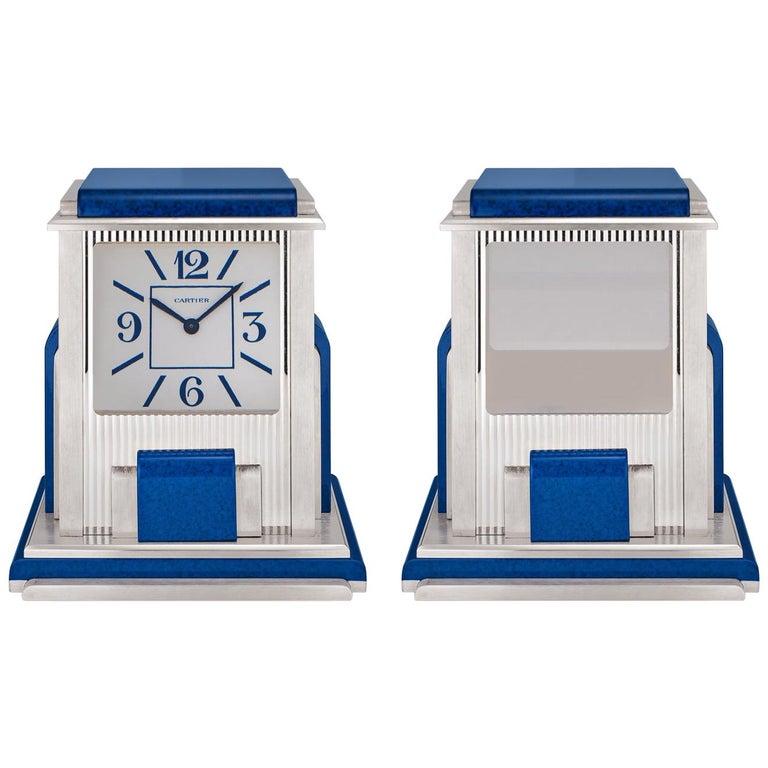 Cartier Paris 'Mystere' Desk Clock For Sale