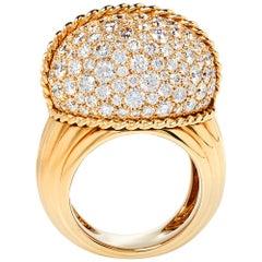 Cartier Paris Nouvelle Vague Black Jade Diamond 18K Rose Gold Ring Size 56