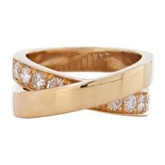 Cartier Paris Nouvelle Vague Diamond Crossover Ring in 18k Yellow Gold