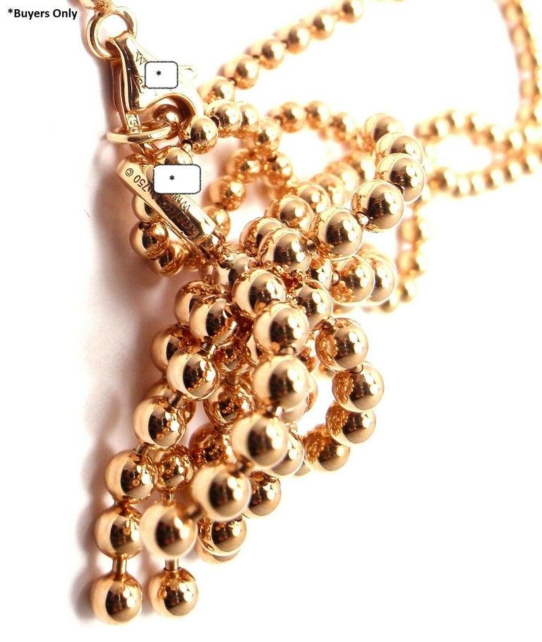 Cartier Paris Nouvelle Vague Diamond Rose Gold Pendant Necklace For Sale 5