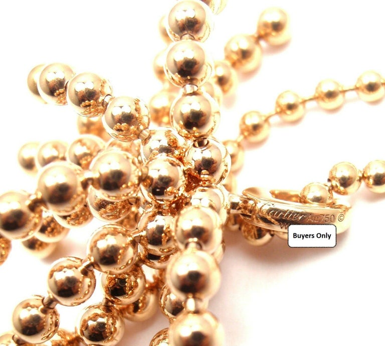 Cartier Paris Nouvelle Vague Diamond Rose Gold Pendant Necklace For Sale 1