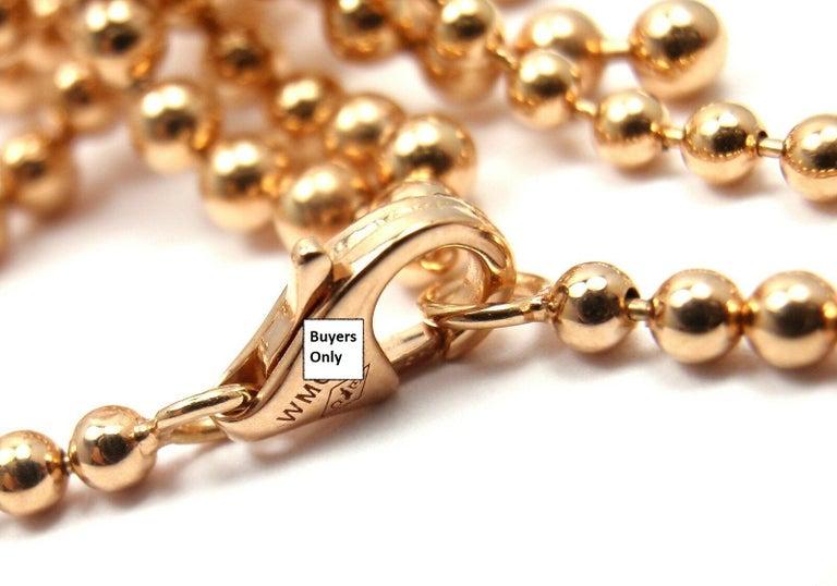 Cartier Paris Nouvelle Vague Diamond Rose Gold Pendant Necklace For Sale 2