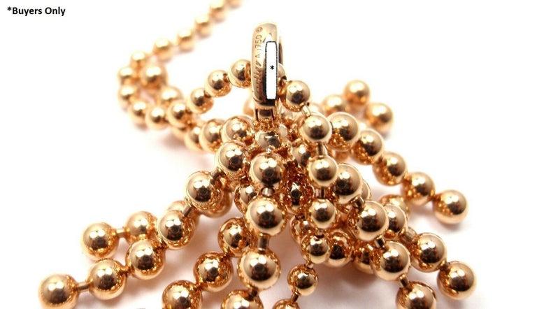 Cartier Paris Nouvelle Vague Diamond Rose Gold Pendant Necklace For Sale 3