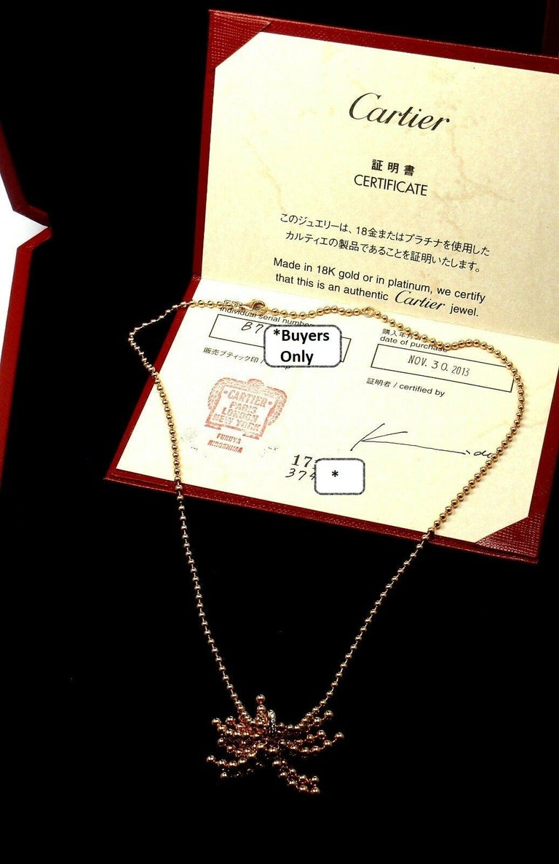 Cartier Paris Nouvelle Vague Diamond Rose Gold Pendant Necklace For Sale 4