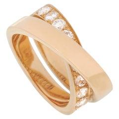 Cartier Paris Nouvelle Vague Diamond X Crossover Spiral Bypass Ring
