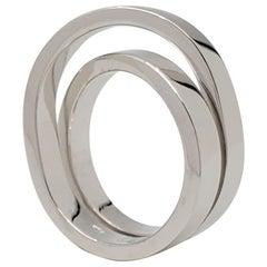 Cartier 'Paris Nouvelle Vague' White Gold Crossover Ring