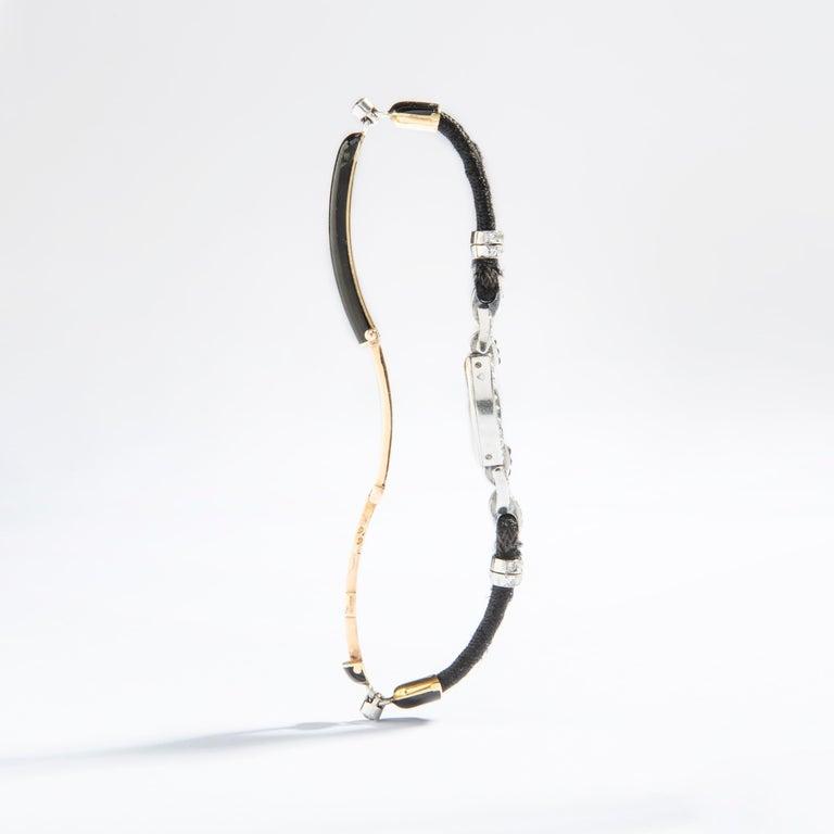 Cartier Paris Platinum Diamond Onyx Art Deco Wristwatch, 1920s For Sale 1