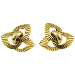 Cartier Paris Retro Gold Ear Clips