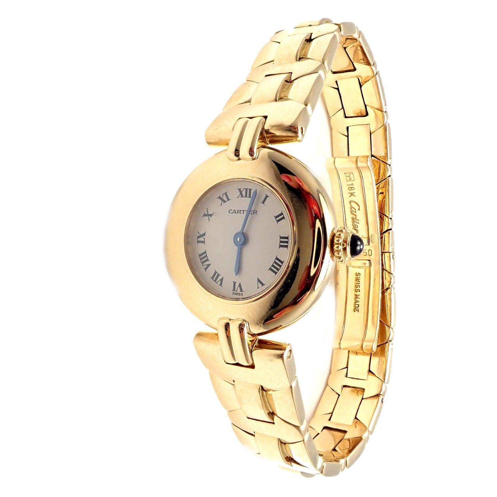 Cartier Paris Rivoli Ladies Quartz Yellow Gold Watch