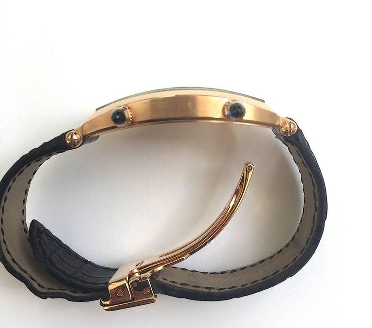 Cartier Paris Rose Gold Tonneau Cintree Dual Time Mechanical Wristwatch For Sale 4