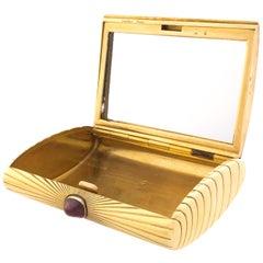 Cartier Paris Ruby 18 Karat Gold Box