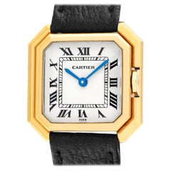 Cartier Paris Sextavado 78099, White Dial, Certified and Warranty