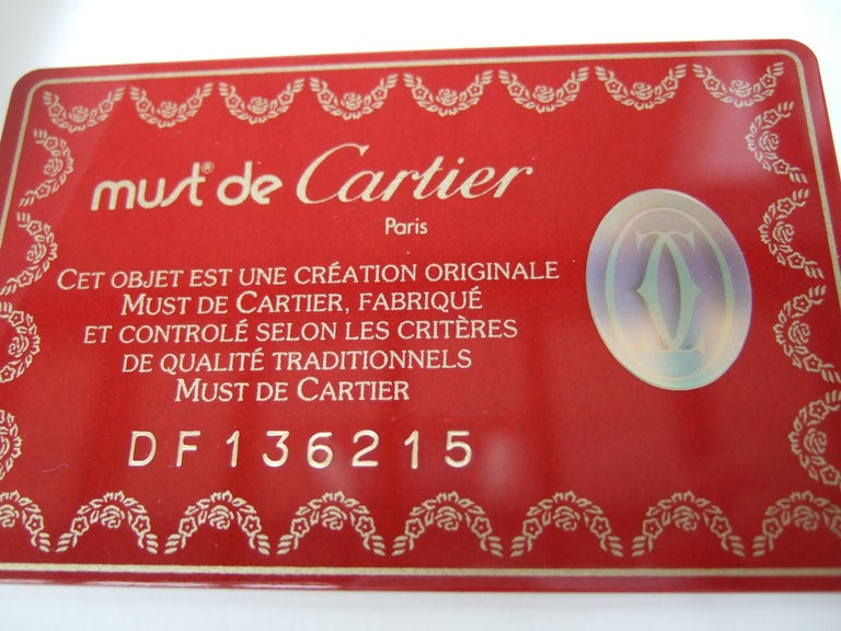 Cartier Paris Silk Panther Hand Rolled Scarf in Cartier Box c 1990s 32 x 34  For Sale 5