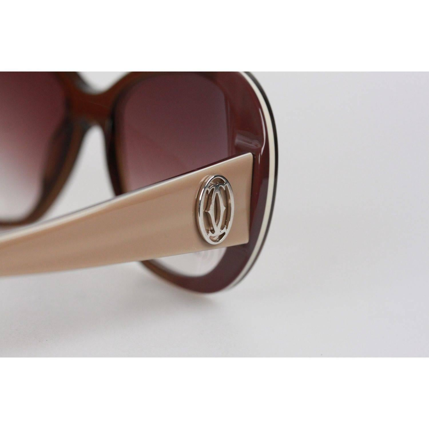 a954dd47669 Cartier Paris JANIS T8200794 Beige 54-18 140 Sunglasses For Sale at 1stdibs