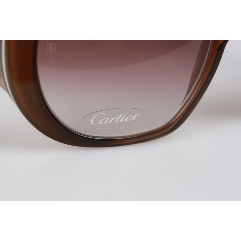 e4f808ad556 Cartier Paris JANIS T8200794 Beige 54-18 140 Sunglasses For Sale at ...
